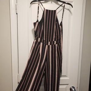 JAPNA Striped Sleeveless Jumpsuit
